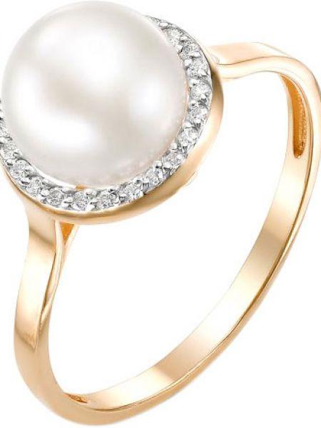 Кольцо с жемчугом с фианитом De Fleur