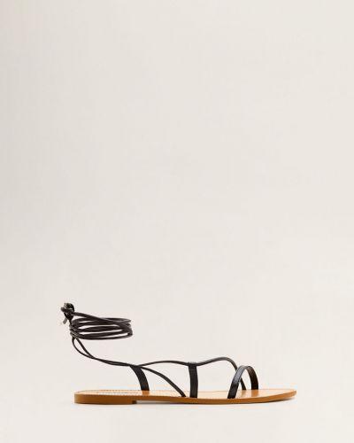 Сандалии кожаный на шнуровке Mango