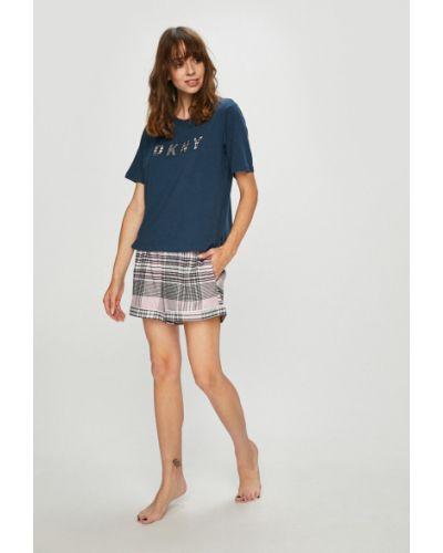 Пижама с шортами с карманами хлопковая Dkny
