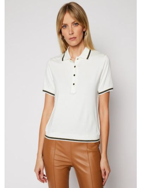 Biała koszulka Luisa Spagnoli