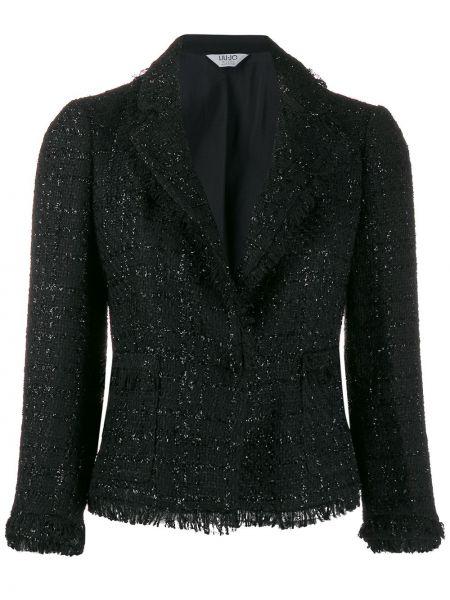 Пиджак черный твидовый Liu Jo