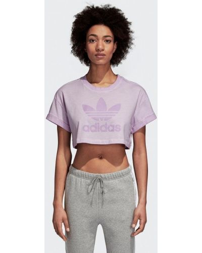 Фиолетовое поло турецкое Adidas Originals