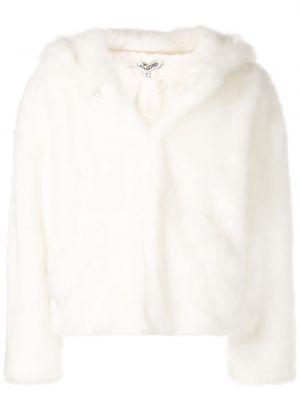 Biała długa kurtka z długimi rękawami Landlord