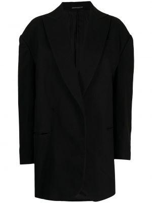 Czarna kurtka bawełniana Yohji Yamamoto