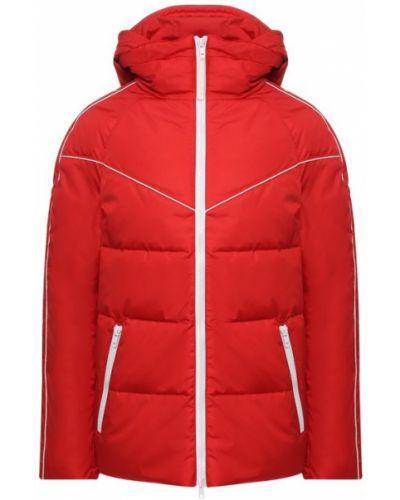 Куртка с капюшоном с надписью красная Valentino