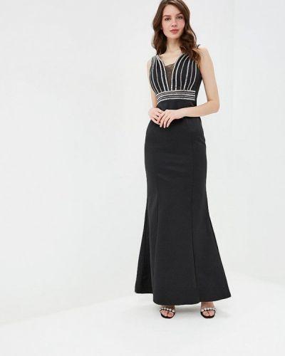 Вечернее платье черное Goddiva