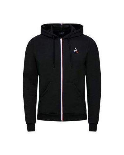 Czarna bluza z kapturem bawełniana Le Coq Sportif