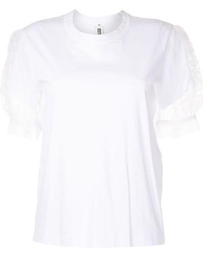 Хлопковая футболка - белая Comme Des Garçons Noir Kei Ninomiya