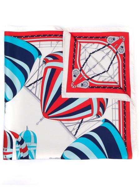 Белый шелковый платок Hermès Pre-owned