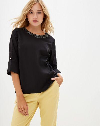 Блузка с коротким рукавом черная Savage