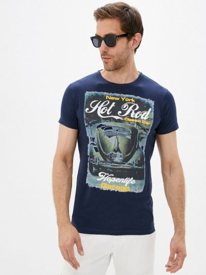 Синяя зимняя футболка Hopenlife