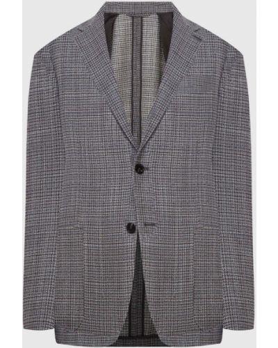 Шерстяной серый пиджак Ermenegildo Zegna
