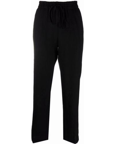 Шерстяные брюки - черные Forte Forte