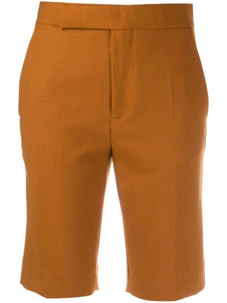 Коричневые шерстяные шорты с карманами Mrz