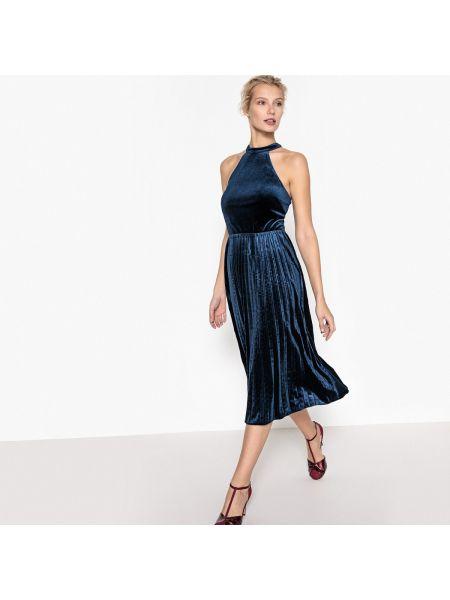 Платье мини миди велюровое La Redoute Collections