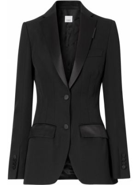 Черная куртка со вставками с лацканами на пуговицах Burberry