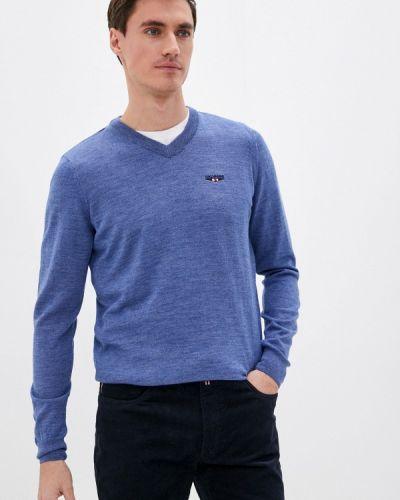 Голубой пуловер Galvanni