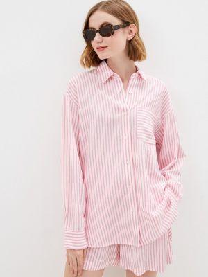 Розовая рубашка с длинным рукавом Mbym