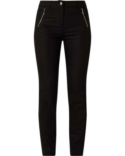 Czarne spodnie bawełniane Comma