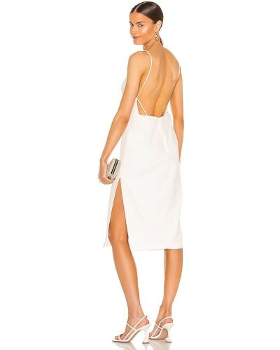 Домашнее бежевое платье миди с открытой спиной Bardot
