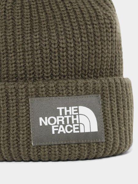 Шапка с отворотом - зеленая The North Face