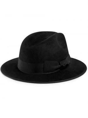 Czarny kapelusz Gucci