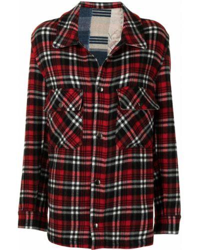 Красная рубашка с длинным рукавом с длинными рукавами Pierre-louis Mascia