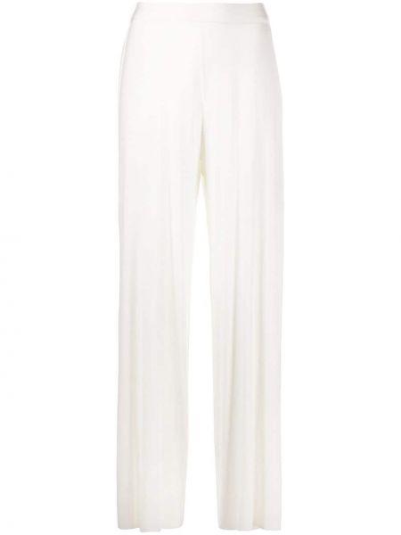 Свободные белые свободные брюки свободного кроя с поясом Stefano Mortari