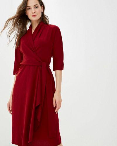 Платье бордовый прямое Adolfo Dominguez