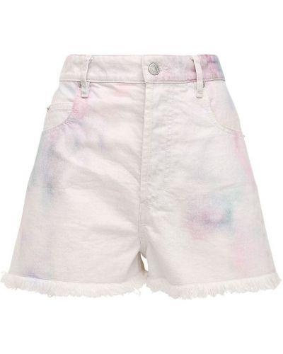 Белые джинсовые шорты с карманами Isabel Marant étoile