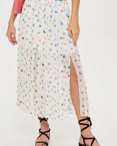 Плиссированная юбка белая Topshop