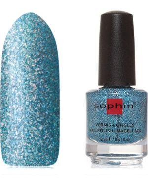 Синий лак для ногтей прозрачный Sophin