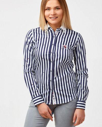 Рубашка с длинным рукавом немецкая синяя Campione