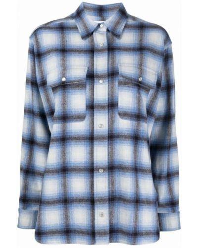 Koszula wełniana - niebieska Isabel Marant Etoile