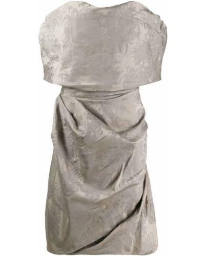 Драповое платье миди с вышивкой Vivienne Westwood Pre-owned