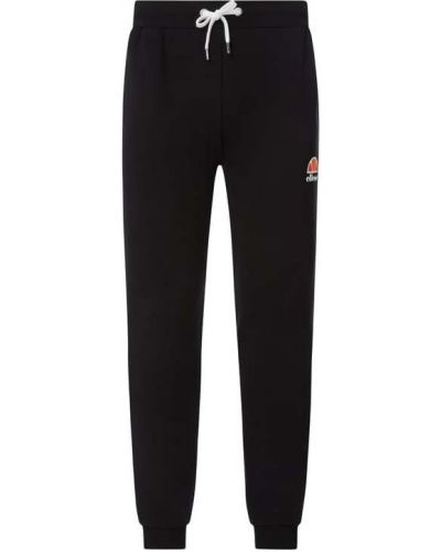 Czarne spodnie bawełniane z printem Ellesse