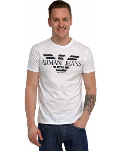 Футболка белая хлопковая Armani Jeans