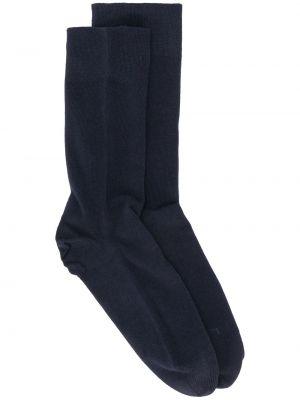 Синие хлопковые вязаные носки круглые Falke