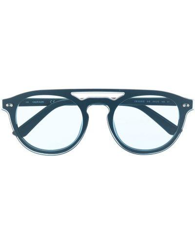Niebieskie okulary Calvin Klein