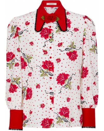 Biała bluzka z jedwabiu vintage Rodarte