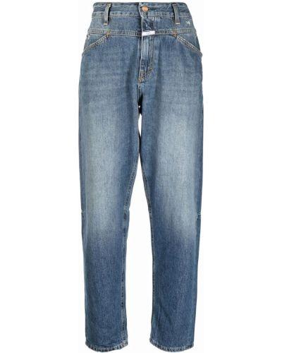 Синие джинсы с завышенной талией Closed