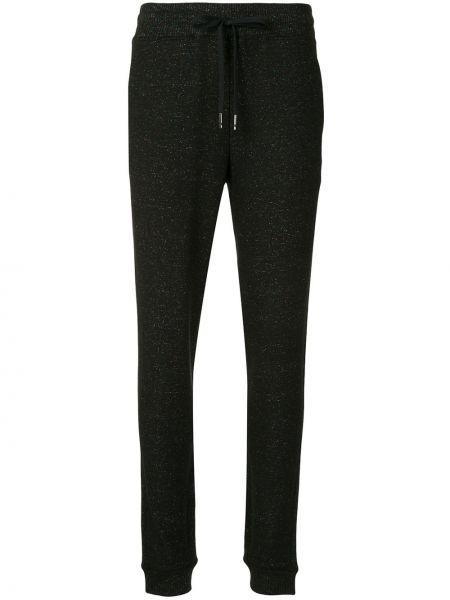 Черные спортивные брюки в рубчик с поясом узкого кроя Alala