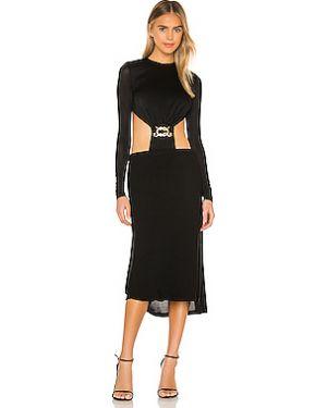 Текстильное черное платье с запахом на резинке Dodo Bar Or
