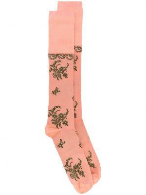 Носки высокие жаккардовые с узором Simone Rocha