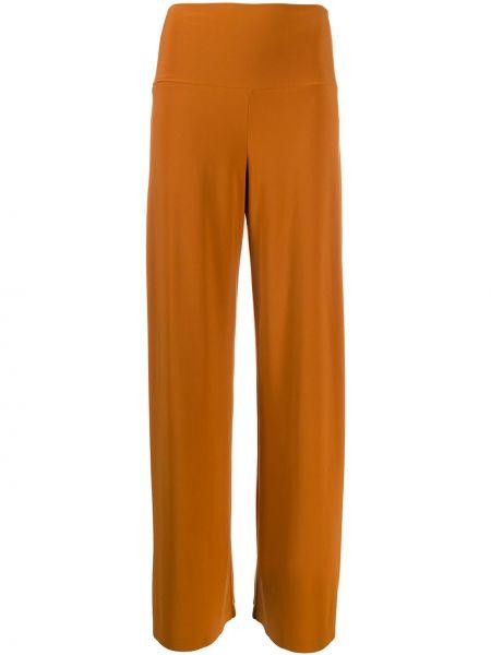 Свободные брюки расклешенные с поясом Norma Kamali