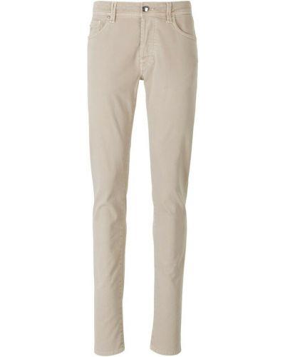 Beżowe jeansy slim Tramarossa