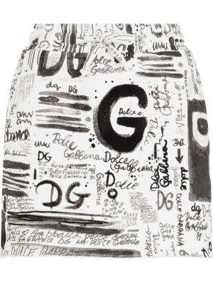 Черная юбка с завышенной талией Dolce & Gabbana