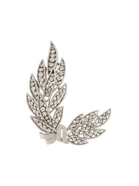 Szara broszka ze srebra srebrna vintage Trifari Vintage