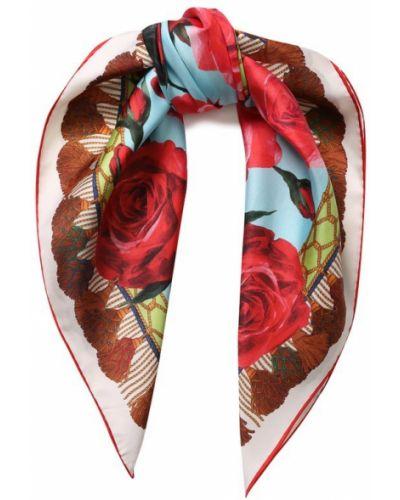 Платок с цветочным принтом из шелка Dolce & Gabbana