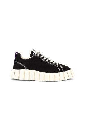 Czarne sneakersy sznurowane koronkowe Eytys
